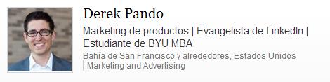 Screen Shot of a LinkedIn Profile Headline in Spanish