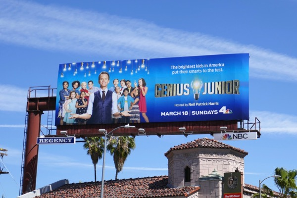 Genius Junior season 1 billboard