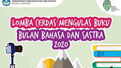Lomba Cerdas Mengulas Buku Bulan Bahasa dan Sastra 2020 Badan Pengembangan dan Pembinaan Bahasa