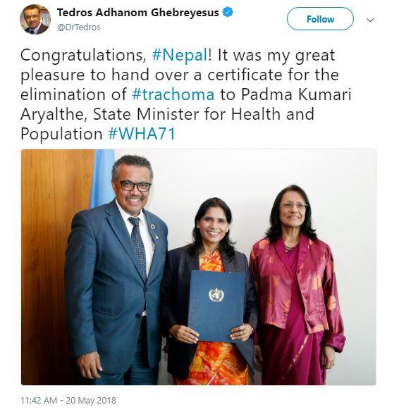 trachoma nepal, NTD Nepal, World Health Organization