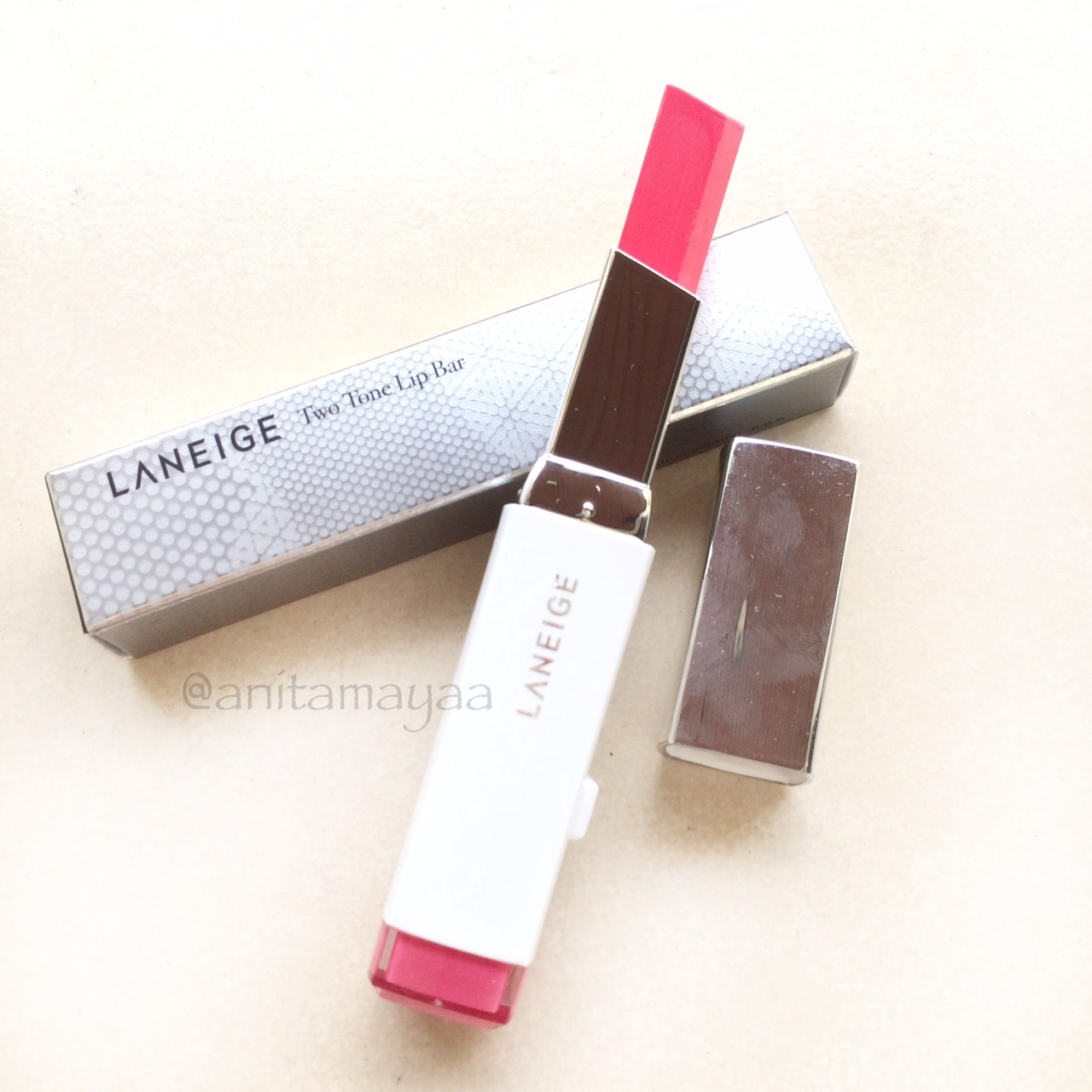[REVIEW] Laneige Two Tone Lip Bar in shade No.6 Pink Step