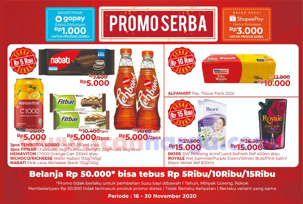 Promo Alfamart SERBA Periode 16 - 30 November 2020