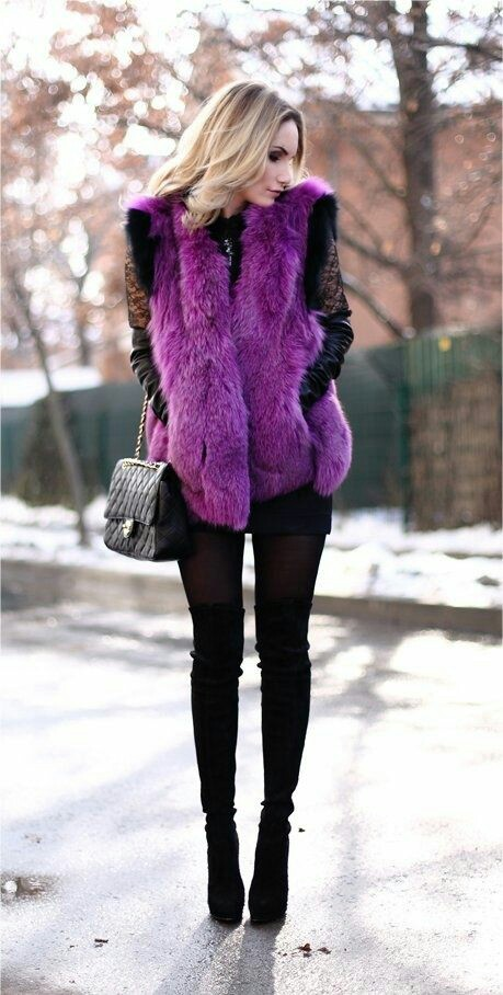 Cute winter street fashion