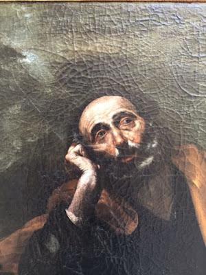 Fig. 2 - Jusepe de Ribera - San Pietro in lacrime  (particolare)- 127x97 - Lecce Collezione Terragno Centonze