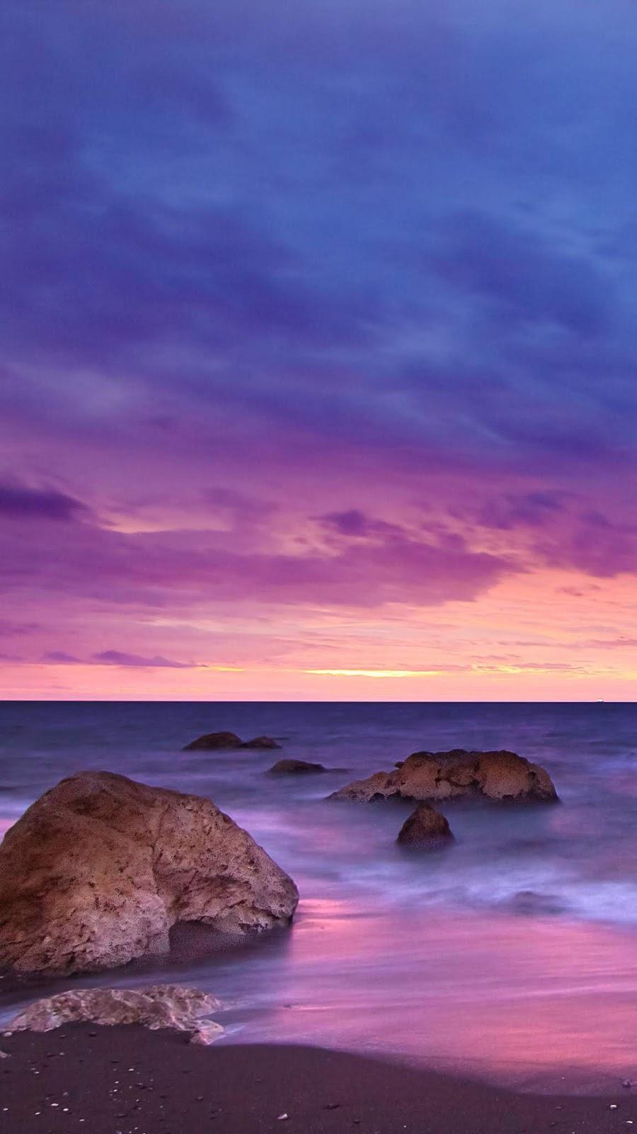 Twilight sunset in the beach