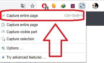 Cara Screenshot 1 halaman penuh