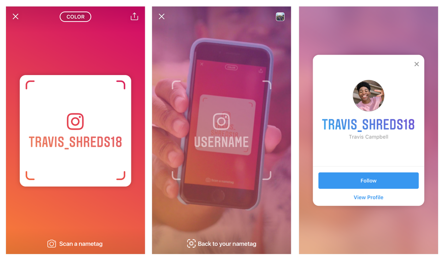 Instagram's Nametag feature makes it easier to follow people you meet in real life