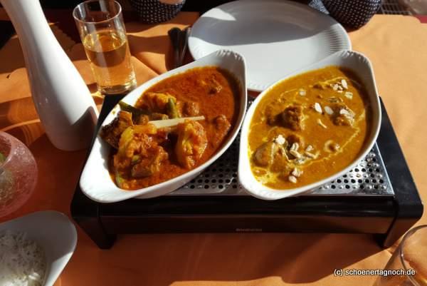 Chicken Tikka Makhani im indischen Restaurant Sangam in Karlsruhe