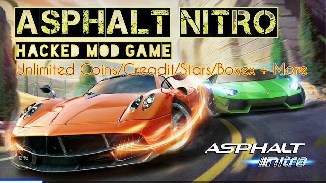 Asphalt Nitro mod  Apk Unlimited Cash Credits Stars Boxes for android