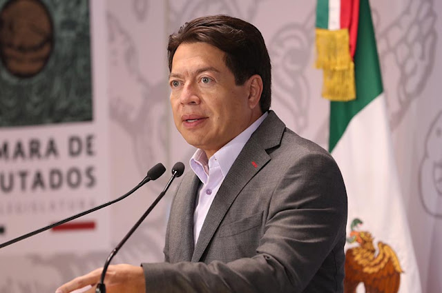 coordinador de la bancada de Morena, Mario Delgado Carrillo