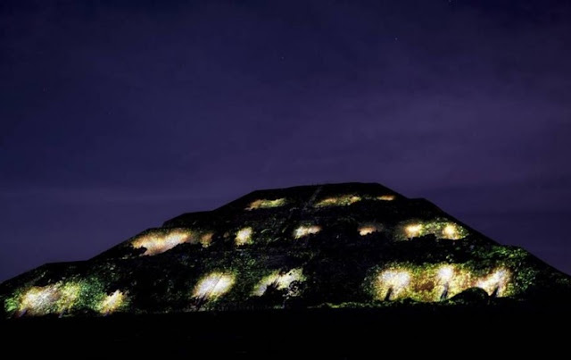 Teotihuacán, luces laser