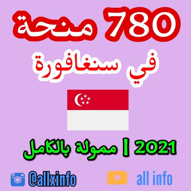 منحة 780  في سنغافورة 2021 | ممول بالكامل