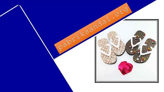 Pabrik Sandal Anak Cewek Terbaru- Sandal AMX Motif Bunga Anak