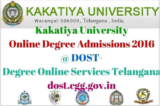 ku,Online Degree Admissions,dost,degree online services telangana