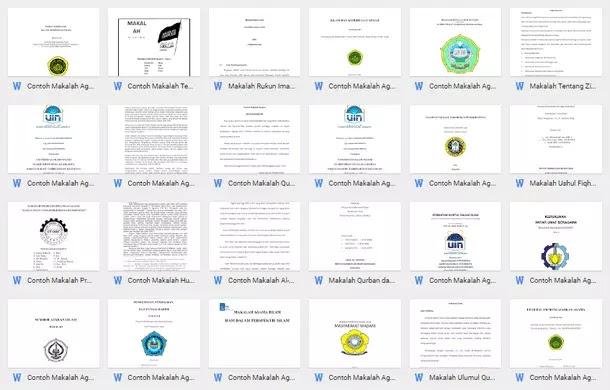 Contoh Makalah Lengkap Download Format Microsoft Word