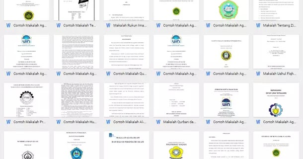 Contoh Makalah Format Microsoft Word Contoh Makalah Docx