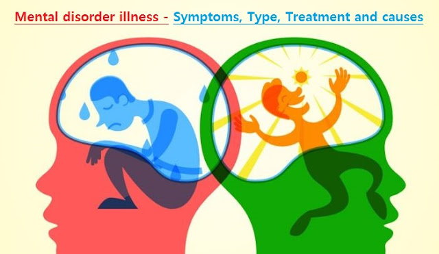 Mental disorder illness - Symptoms, Type, Treatment and causes
