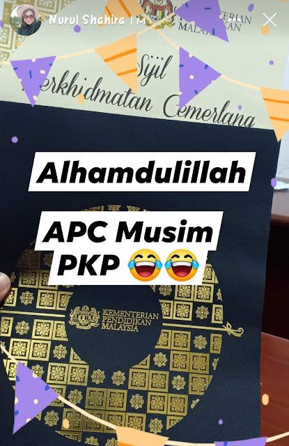 Dapat Sijil Anugerah Perkhidmatan Cemerlang (APC) 2019 musim PKP