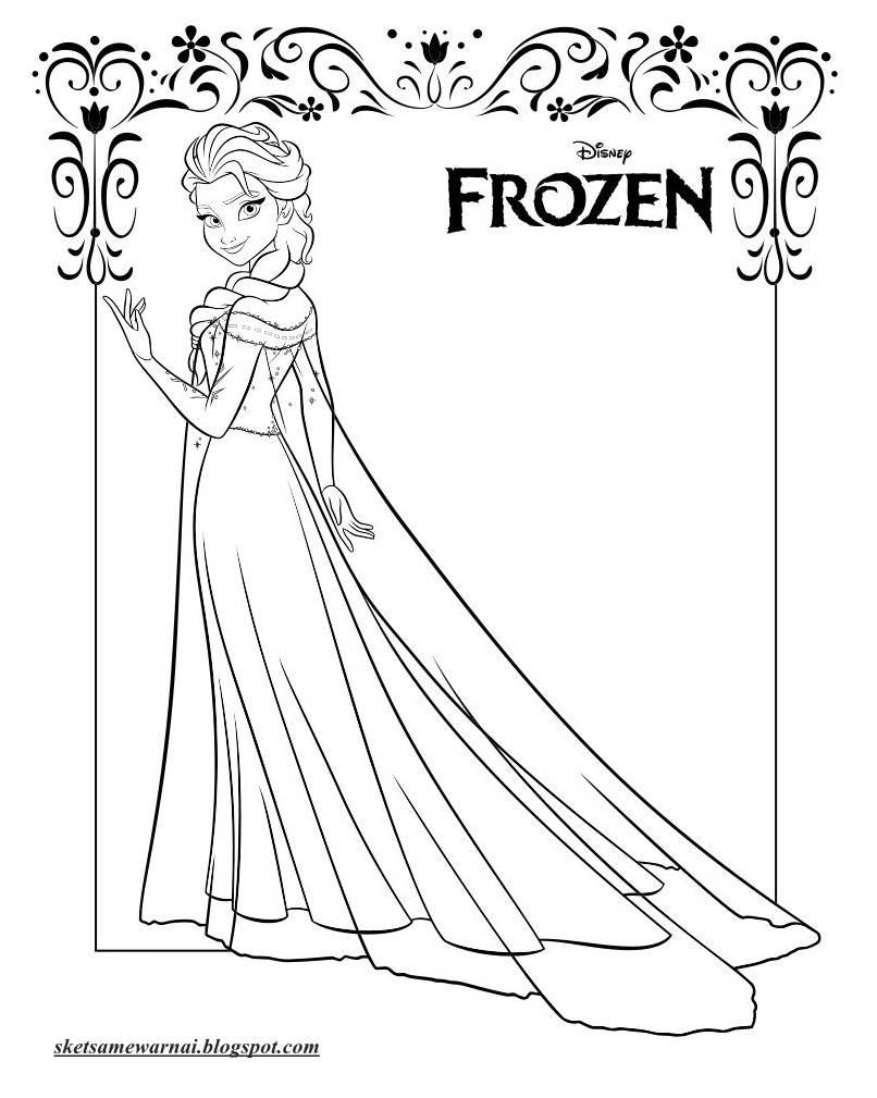 Mewarnai Gambar Sketsa Barbie