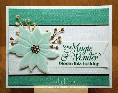 Heart's Delight Cards, Poinsettia Petals, Poinsettia Dies, 2020 Aug-Dec Mini, Stampin' Up!, 12 Days of Christmas in July