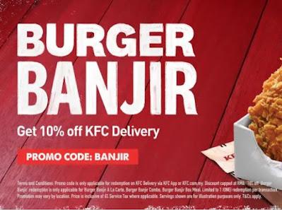 promo burger banjir KFC