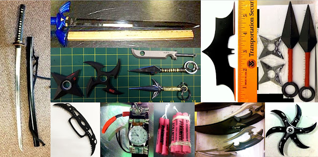Discovered knives, swords, bombs image