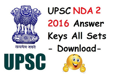 NDA 2 2016 Answer keys (All sets) - Download