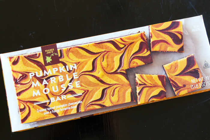 Trader Joe's Pumpkin Marble Mousse Bar review