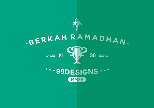 Berkah Ramadhan 1436 H, Menang Contest 99designs Untuk Pertama Kalinya