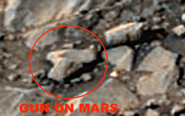 Hóa thạch súng lục cổ đại và nhiều vật thể lạ trên sao Hỏa được tìm thấy