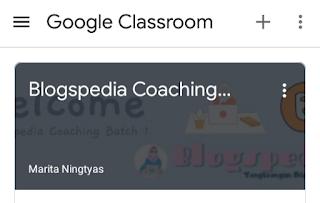 Home page Blogpedia Coaching di Google Classroom