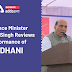 Defence Minister Rajnath Singh reviews performance of MIDHANI