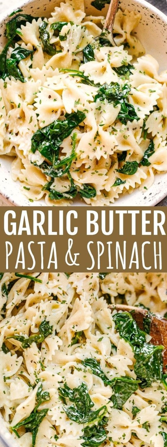 Garlic-Butter Spinach And Pasta