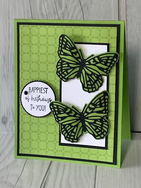 Handmade Birthday Card featurring Butterflies from Stampin' Up! Brilliant Wings Dies
