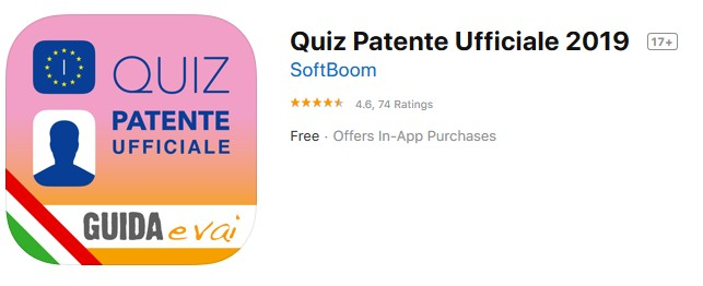 Quiz Patente Mobile application for learning Italian Drivers license test
