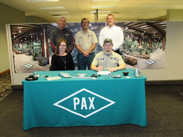 Tri Star CBI Student Kyle Zizleman signs with Pax Machine, Inc.