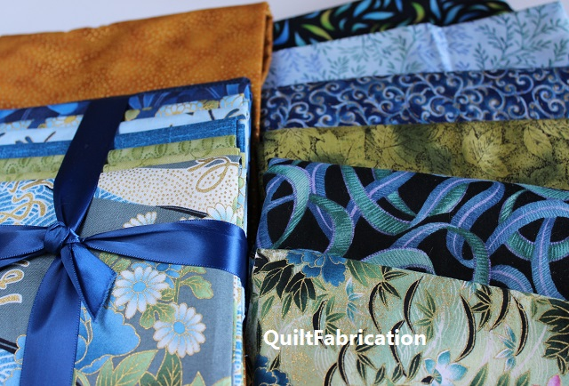 blue Asian fabrics for the Use It Up pattern