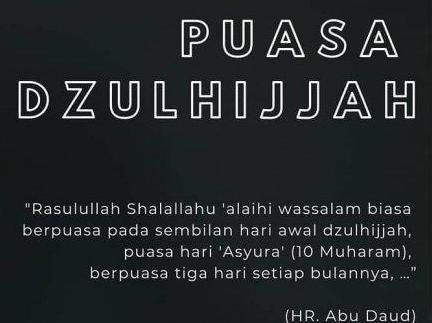 Tata Cara Puasa Dzulhijjah, Puasa Arafah & Puasa Tarwiyah