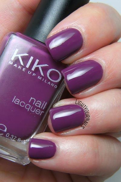 Smalto Kiko 316 Viola Rosso nail polish