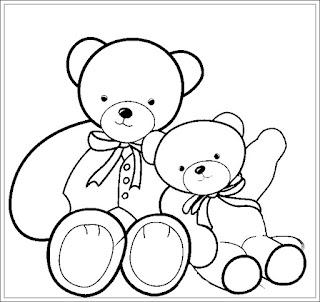 Ausmalbilder Teddybär zum Ausdrucken