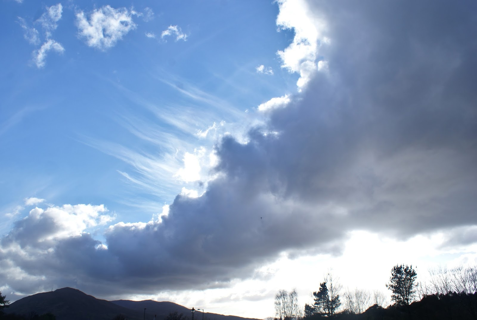 sky sunset clouds corpach fort william scotland uk