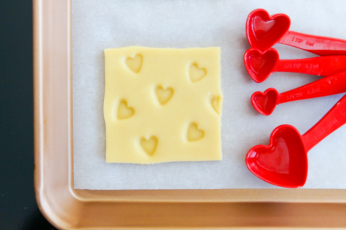 how to make Valentine swiss cheese cookies