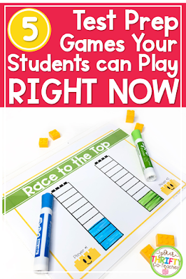 Engaging and fun test prep game ideas for your upper elementary classroom that you can implement today!