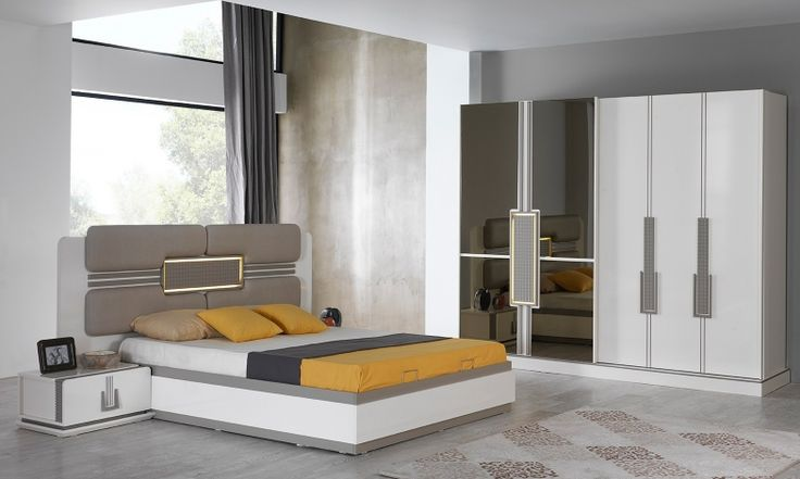 2019 Latest Design Modern Double Bed With Mattress Wide Varieties Beds With Mattresses Furniture