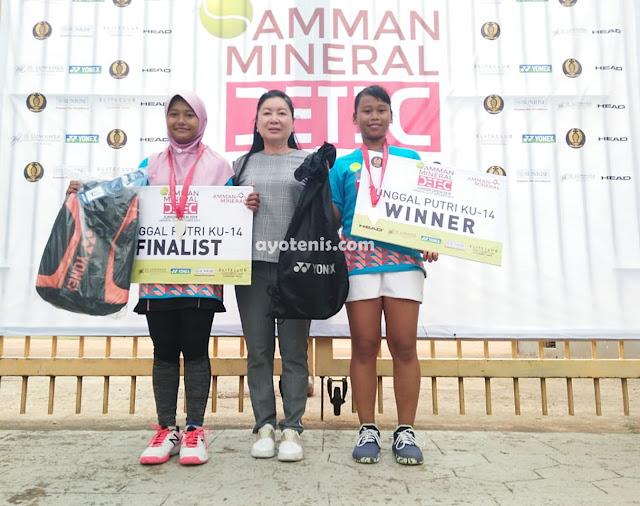 Gadis asal Desa Terpencil Sukses Sabet Gelar Juara Kejurnas Tenis Amman Mineral DETEC Jr Open 2019