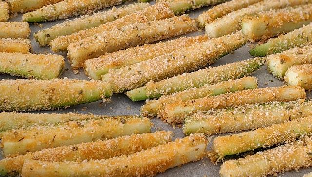recette, courgettes, frites, croustillantes, sans oeufs, idées repas, peu d'ingrédients, étape par étape