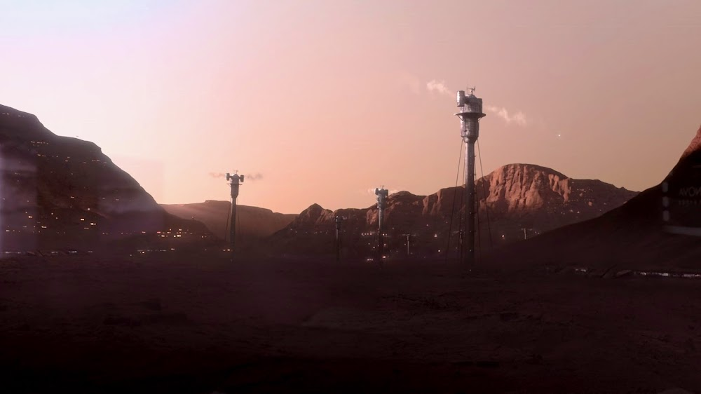 Terraformer towers at Mars colony in Season 4 of The Expanse