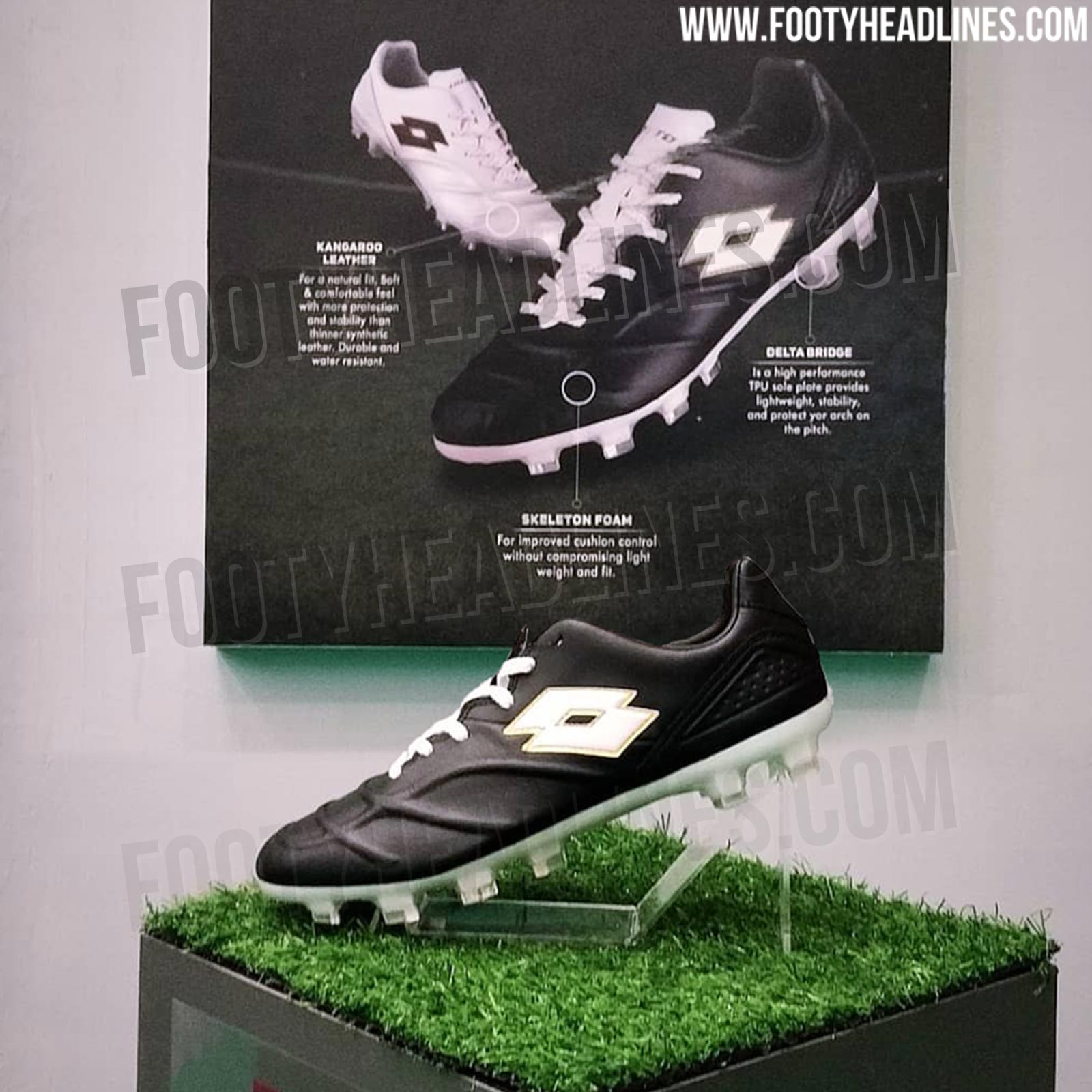 The Lotto Capolista will be Lotto s first-ever leather football boot  without traditional stitching 2a62b7c97