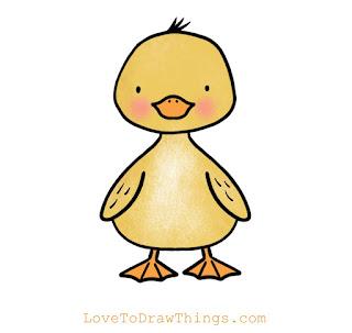 Easy duckling to draw. Easy beginners art tutorial
