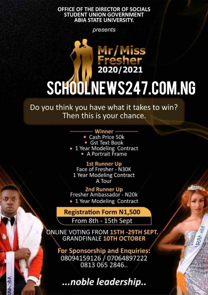 ABSU: Postponement Of Semester Examination/ Sales of MR & MISS Freshers